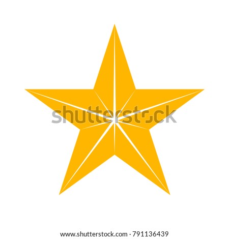 Star. Symbol of decoration, award, quality, rating. Isolated vector icon, sign, emblem, pictogram. Flat style for design, web, logo or UI. Eps10