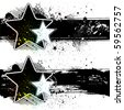 star vector grunge banners - stock photo