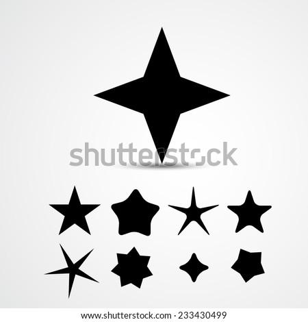 Star vector icon. Set - stock vector