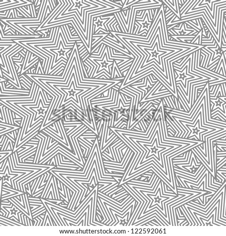 Star vector seamless background - an abstract pattern - stock vector