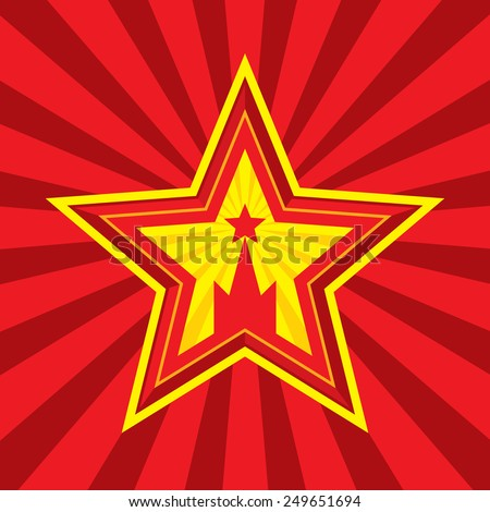 Star Kremlin Symbols Vector Concept Illustration Stock Vector