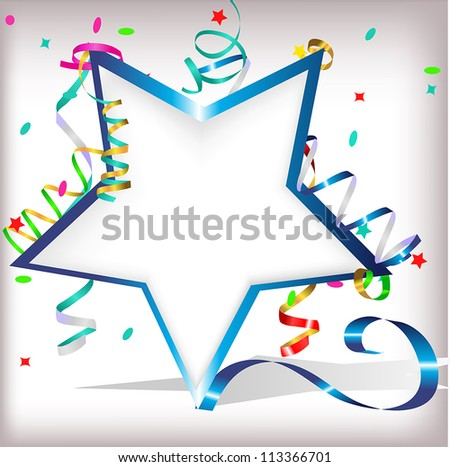 star with serpentine - stock vector