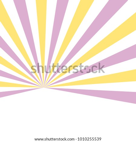 Starburst background yellow pink - minimal abstract spring pattern design