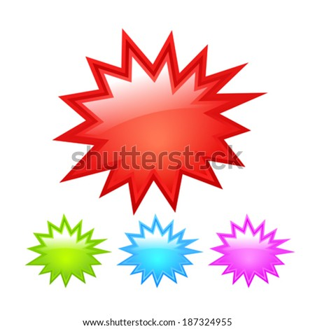 Starburst icon - stock vector