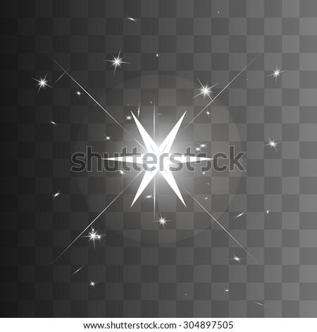 starburst sparkle star. vector illustration - stock vector