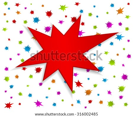starburst splash star festive background - stock vector