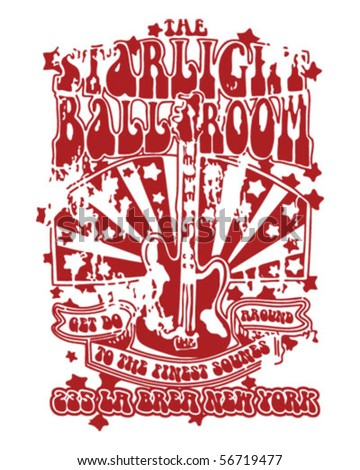 StarLight Ball Room Design Vetor - stock vector