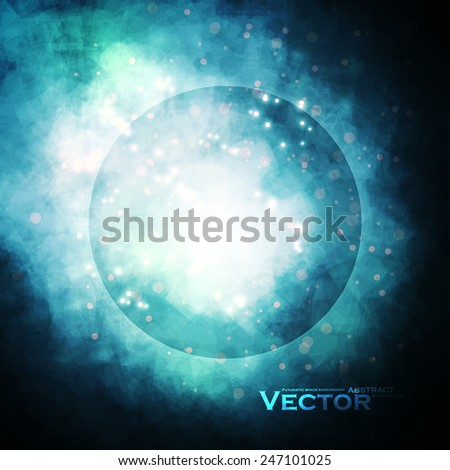 Starry background, rich star forming nebula, colorful abstract illustration eps10 - stock vector
