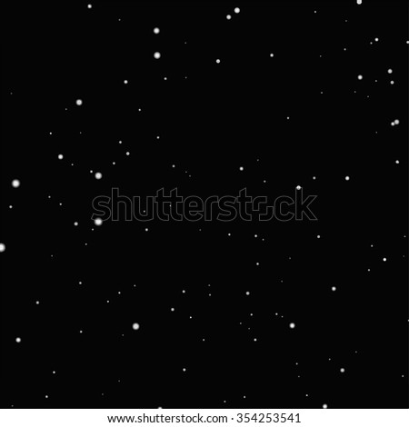 Starry night sky. Stars, sky, night. - stock vector
