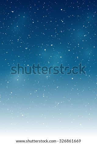 Starry sky background for Your design - stock vector