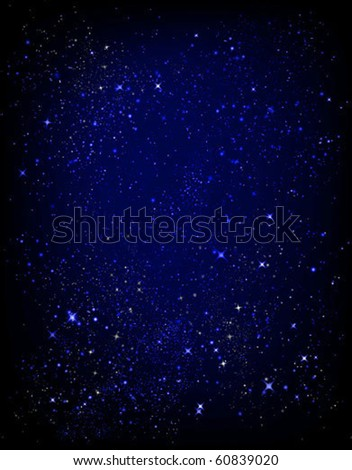 starry sky texture vector background - stock vector