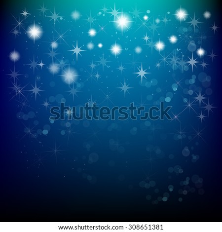 starry sky. Vector - stock vector