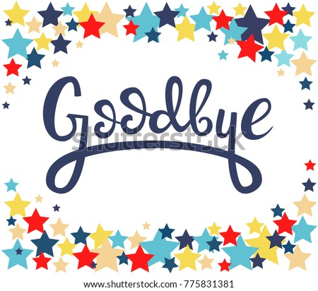 Goodbye stock images royalty free images vectors for Farewell banner template