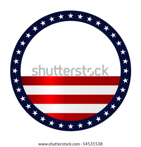 Stars and stripes abstract background. Fourth of July theme. - stock vector