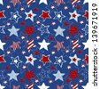 stars and stripes seamless pattern - stock vector