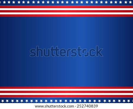Stars and stripes USA patriotic background / border - stock vector