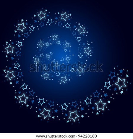 Stars are falling on the background - stock vector