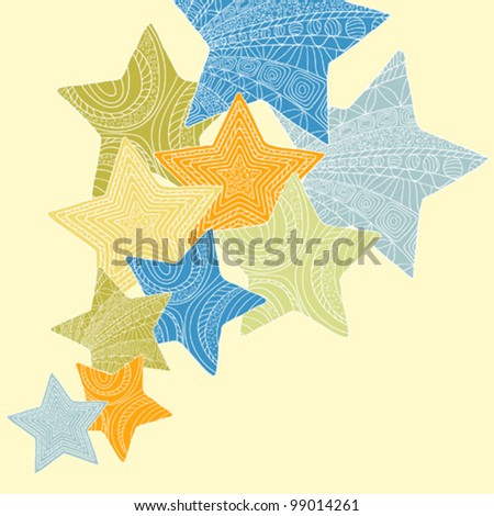 Stars background - stock vector