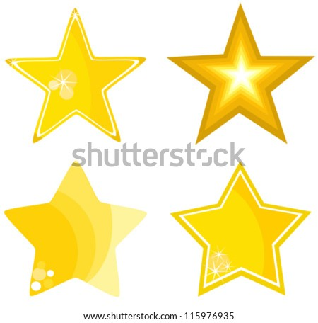 Stars collection - vector illustration - stock vector