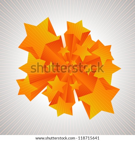 Stars coming in 3D - stock vector