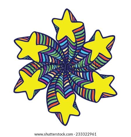 stars design - stock vector
