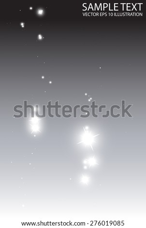 Stars falling on shiny abstract background vector template - Vector sparkles fall shiny   background illustration - stock vector