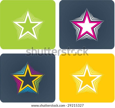 Stars for logo - stock vector