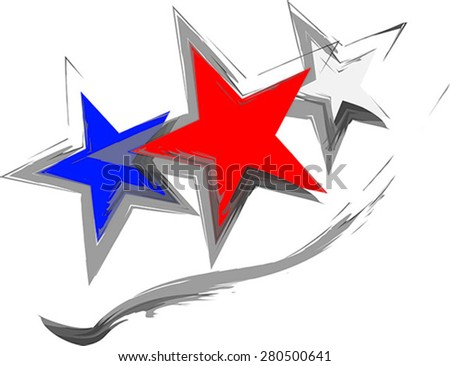 Stars for 4th of July background- vector - stock vector