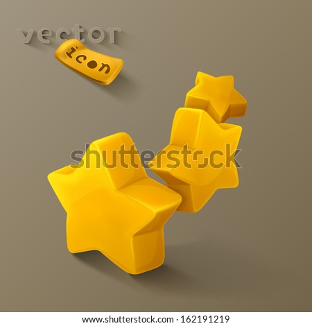 Stars icon - stock vector
