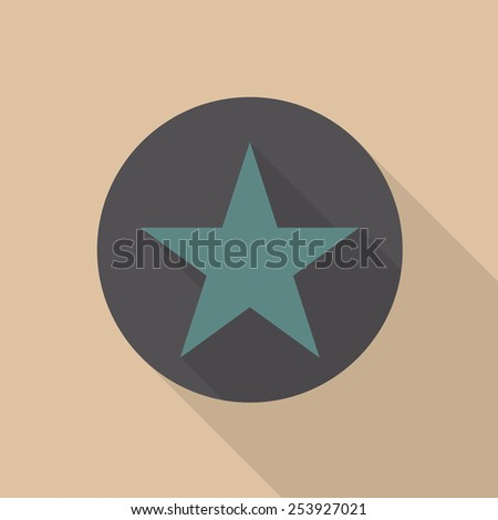 Stars icon with long shadow - Vector - stock vector