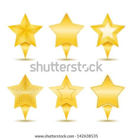 Stars icons, vector eps10 illustration