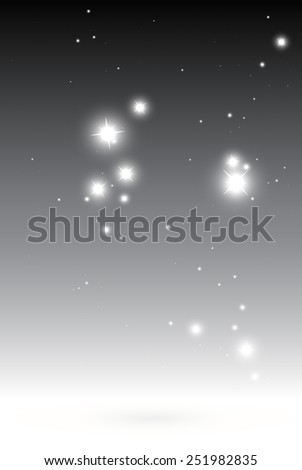 Stars in space abstract background vector template - Vector sparkles fall space gray background illustration - stock vector