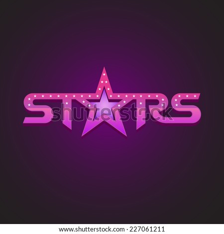 Stars logotype fashion style concept. - stock vector