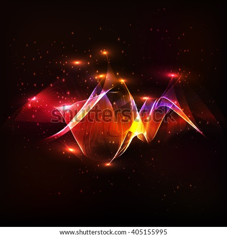 Stars of a planet and galaxy in a free space. Nebula gas cloud in deep outer space. - stock vector