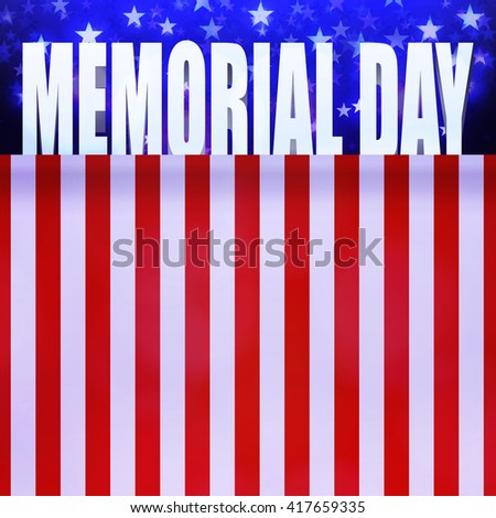 Stars on blue background with place for text. Memorial day design. Holiday patriotic card for Independence day, Memorial day, Veterans day, Presidents day and so on. - stock vector