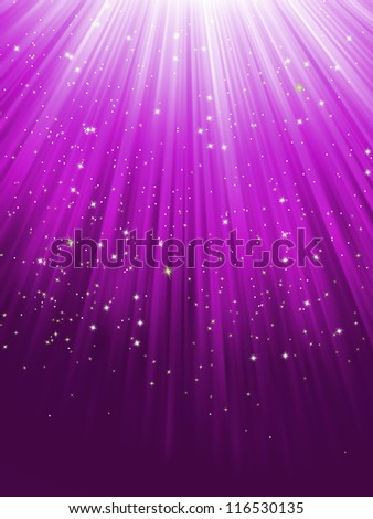 Stars on purple striped background. EPS 8 vector file included - stock vector