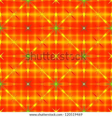 Stars on red golden striped background pattern. Vector EPS10