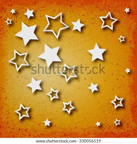 Stars on vintage grunge background - stock vector