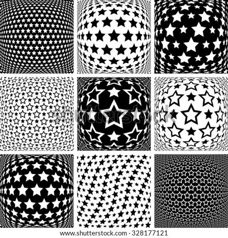 Stars patterns. Design elements set. Vector art. - stock vector
