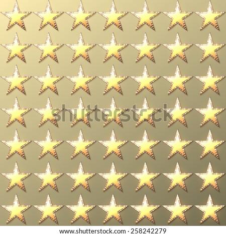 Stars retro light gold background. Vector illustration - stock vector