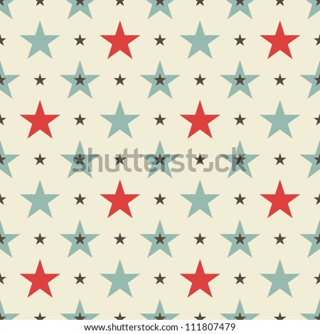 stars seamless pattern - stock vector