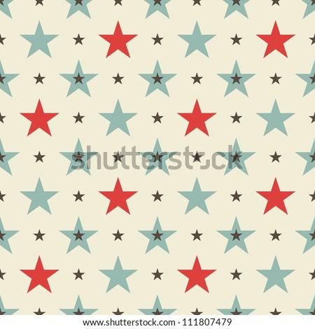 stars seamless pattern - stock vector