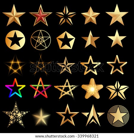 Stars set - stock vector