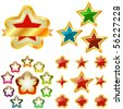 Stars. Set of original vector icons. - stock vector