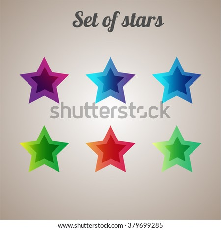 Stars. Set of stars. Symbol. Geometric figure. - stock vector