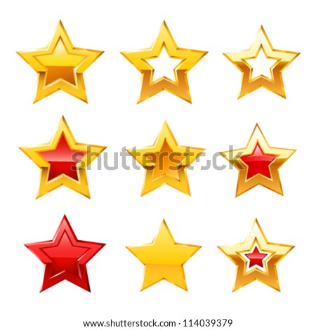 Stars set. Vector - stock vector