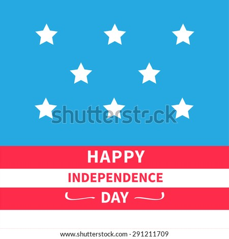 Stars Srips background Happy independence day United states of America. 4th of July. Flat design Vector illustration
