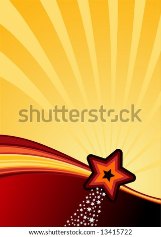 stars, stripes and swhooshes background ready for your text. Vector illustration. - stock vector