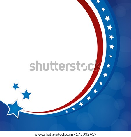 Stars & Stripes Background - stock vector