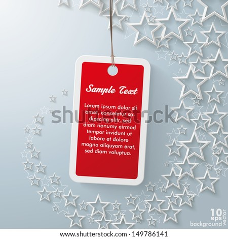 Stars with shopping mark on the grey background. Eps 10 vector file. - stock vector